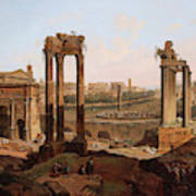 A View Of The Forum Romanum Art Print