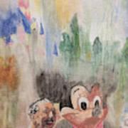 A Walk With Walt Art Print