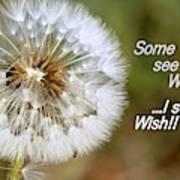 A Weed Or Wish? Art Print