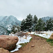A Winter's Day In The Flatirons Art Print