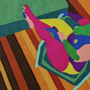 A Woman In A Chair Art Print