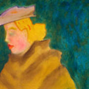 A Woman In A Fur Art Print