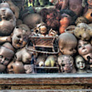 Abandoned Doll Heads Art Print