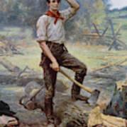 Abe Lincoln The Rail Splitter  Art Print