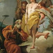 Abraham Y Los Tres Angeles  X   Cm  Art Print