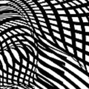 Abstract Black And White Stripe Shape Art Print