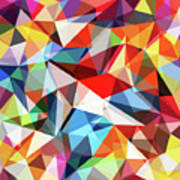 Abstract Colorful Geometrical Background Art Print