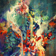 Abstract Colorful Painting,melted Art Print