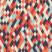 Abstract Geometric Background For Art Print