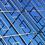 Abstract Geometric Reflection Art Print