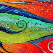 Abstract Mahi Mahi Art Print
