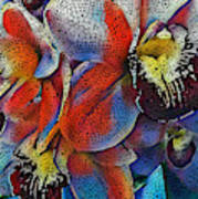 Abstract Orchids.  Art Print