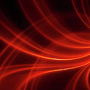 Abstract Red Dynamic Lines Backgrounds Art Print