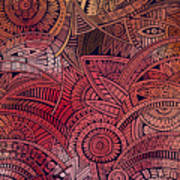 Abstract Vector Tribal Ethnic Art Print