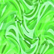 Abstract Waves Painting 0010086 Art Print