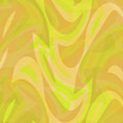 Abstract Waves Painting 0010091 Art Print