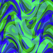 Abstract Waves Painting 0010094 Art Print