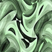 Abstract Waves Painting 0010095 Art Print