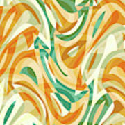 Abstract Waves Painting 0010105 Art Print
