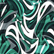 Abstract Waves Painting 0010112 Art Print