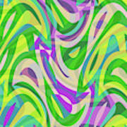 Abstract Waves Painting 0010113 Art Print