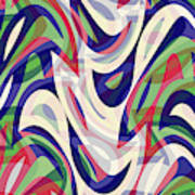 Abstract Waves Painting 0010118 Art Print