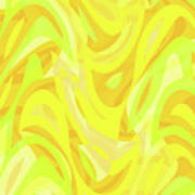 Abstract Waves Painting 0010121 Art Print