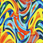 Abstract Waves Painting 007176 Art Print