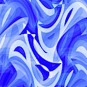 Abstract Waves Painting 007183 Art Print