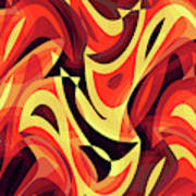 Abstract Waves Painting 007185 Art Print