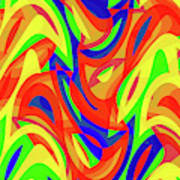 Abstract Waves Painting 007192 Art Print