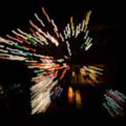 Abstracted Christmas - Luminous Fairy Lights Patterns Art Print