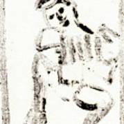 Accordion After Mikhail Larionov Black Ink Painting 1 Art Print