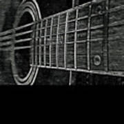 Acoustic Guitar Musician Player Metal Rock Music Strings Art Print