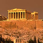 Acropolis And Parthenon From Filopappou Art Print