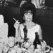 Actress Elizabeth Taylor At Hollywood Art Print