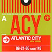 Acy Atlantic City Luggage Tag I Art Print