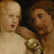 Adam And Eve, 1517  Art Print