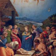 Adoration Of The Shepherds Art Print