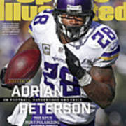 Adrian Peterson Exclusive On Football. Fatherhood And Exile Sports Illustrated Cover Art Print