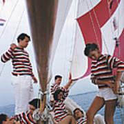 Adriatic Sailors Art Print