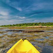 Adventurous Kayak In Maine Art Print