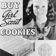 Advertisement Poster For Girl Scout Art Print
