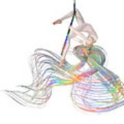 Aerial Hoop Dancing Ribbons For Her Hair Png Art Print