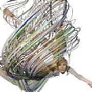 Aerial Hoop Dancing Whirlwind Of Hair Png Art Print