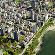 Aerial Of West End, Vancouver Art Print