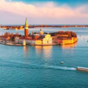 Aerial View At San Giorgio Maggiore Art Print