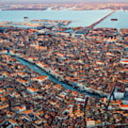 Aerial View Of Grand Canal, Venice, Italy Art Print