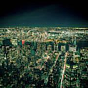 Aerial View Of Manhattan Skyline  Art Print
