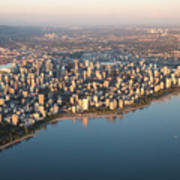 Aerial View Of Stanley Park And Art Print